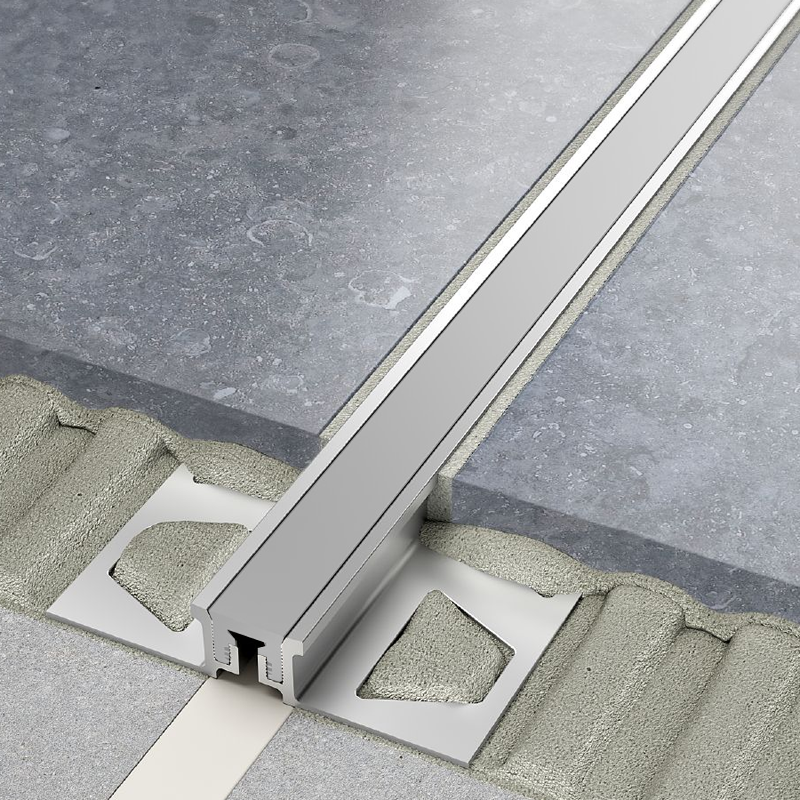 DILEX-AKSN Aluminium Expansion Joint (Grey Insert) By Schluter