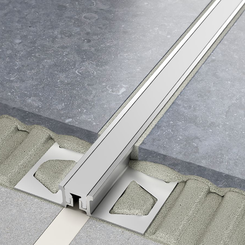 DILEX-AKSN Aluminium Expansion Joint (Pastel Grey Insert) By Schluter