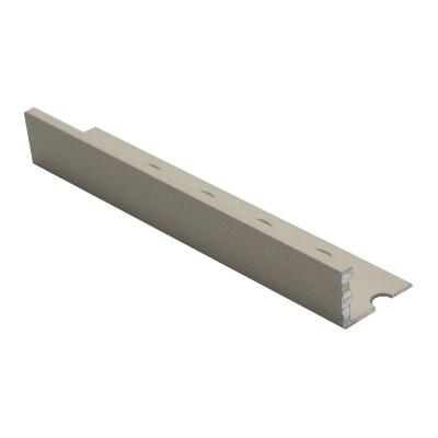 Straight Edge Textured Bath Stone ESA Aluminium 2.5m By Genesis