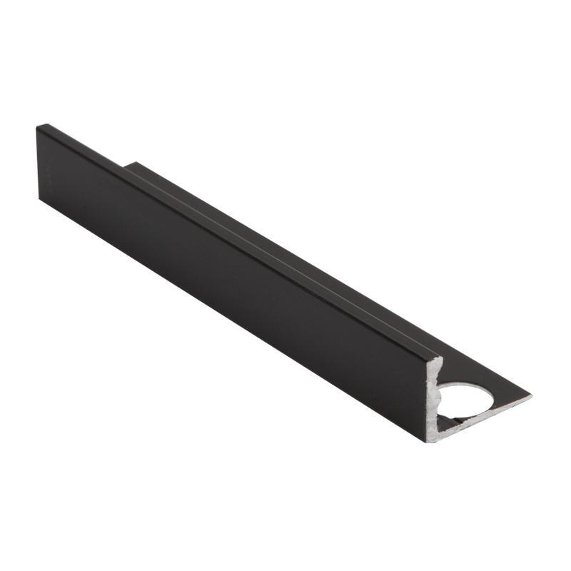 Straight Edge Powder Coated Black Tile Trim ESA by Genesis