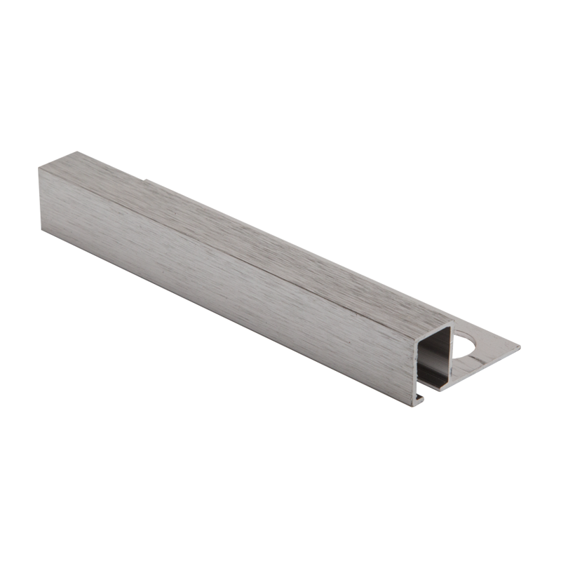 Square Edge Brushed Chrome Tile Trim TDP by Genesis