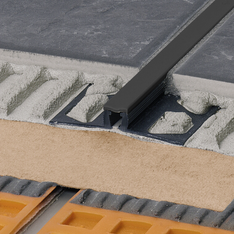 DILEX-BWB PVC Expansion Joint (Graphite Black Insert) By Schluter