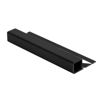 Square Edge Plastic Tile Trim Black DPSP by Dural