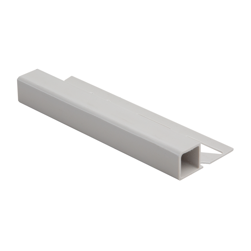 Square Edge Plastic Tile Trim Grey DPSP by Dural