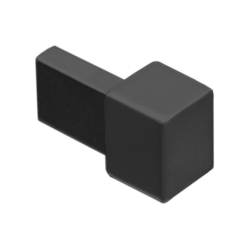 Black Powder Coated Square Edge Metal Corners EDP (2 Pack) by Genesis