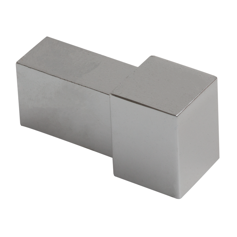 Polished Chrome Square Edge Corners EDP (2 Pack) by Genesis