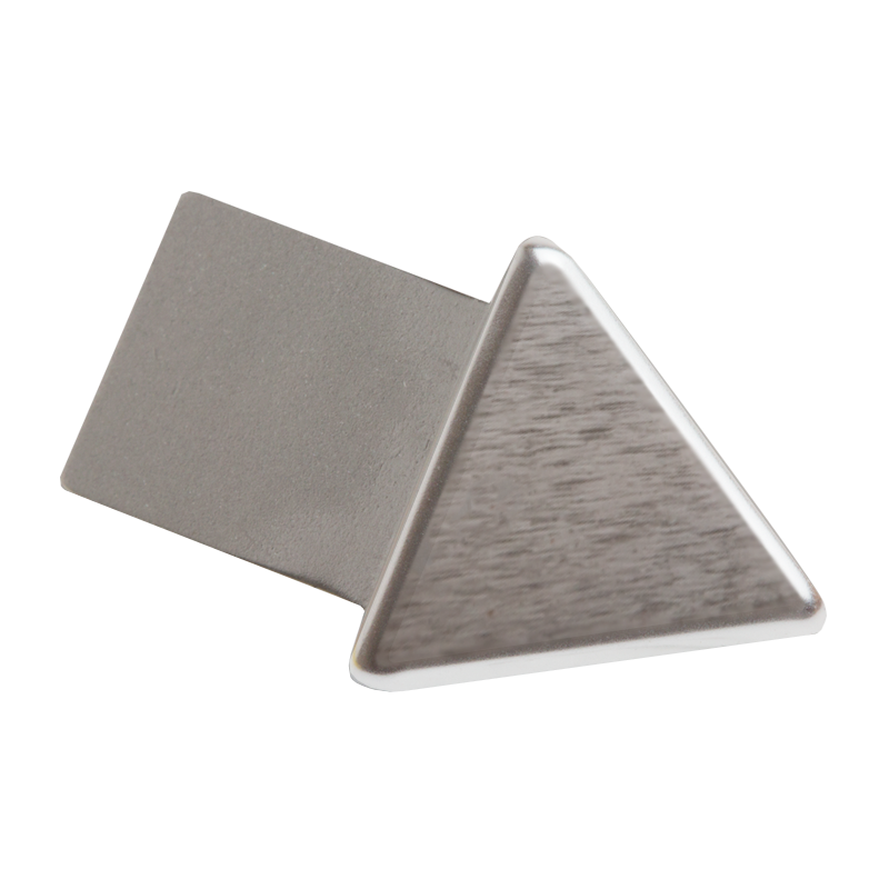 Brushed Chrome Triangular External Corner (2 Pack) by Genesis