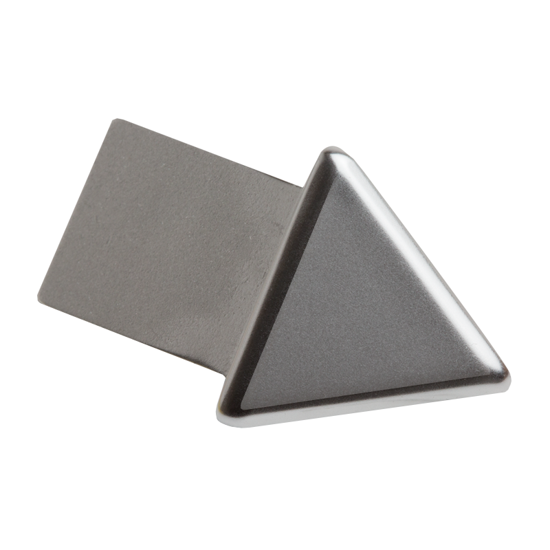Polished Chrome Triangular External Corner (2 Pack) by Genesis