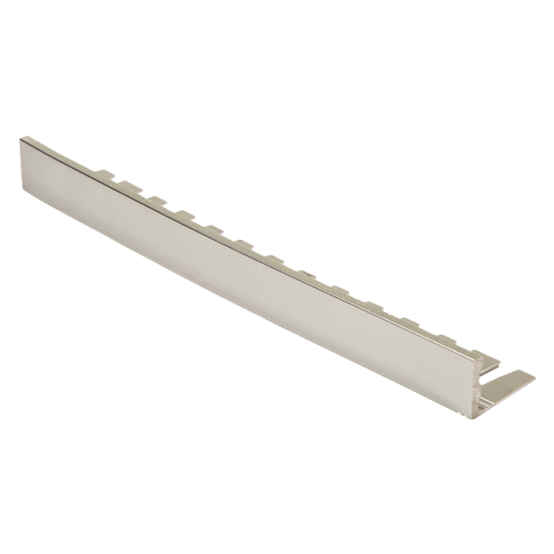 formable straight edge polished chrome tile trim efa by. Black Bedroom Furniture Sets. Home Design Ideas