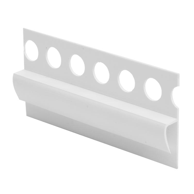 Vinyl To Tile Capping Plastic Strip White Efu By Genesis