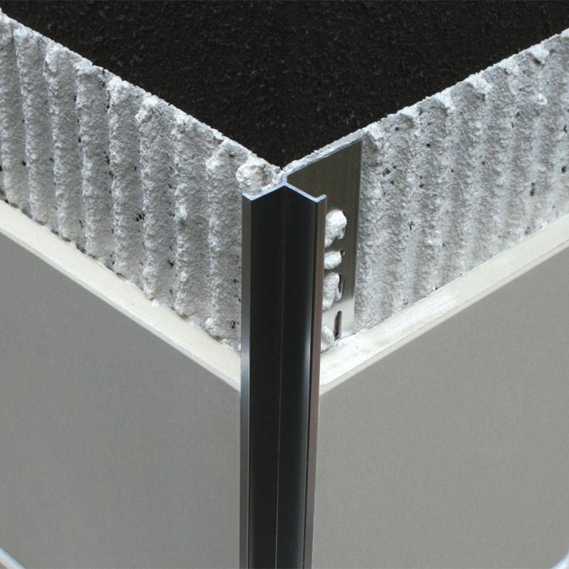 polished chrome internal square edge tile trim eik by. Black Bedroom Furniture Sets. Home Design Ideas