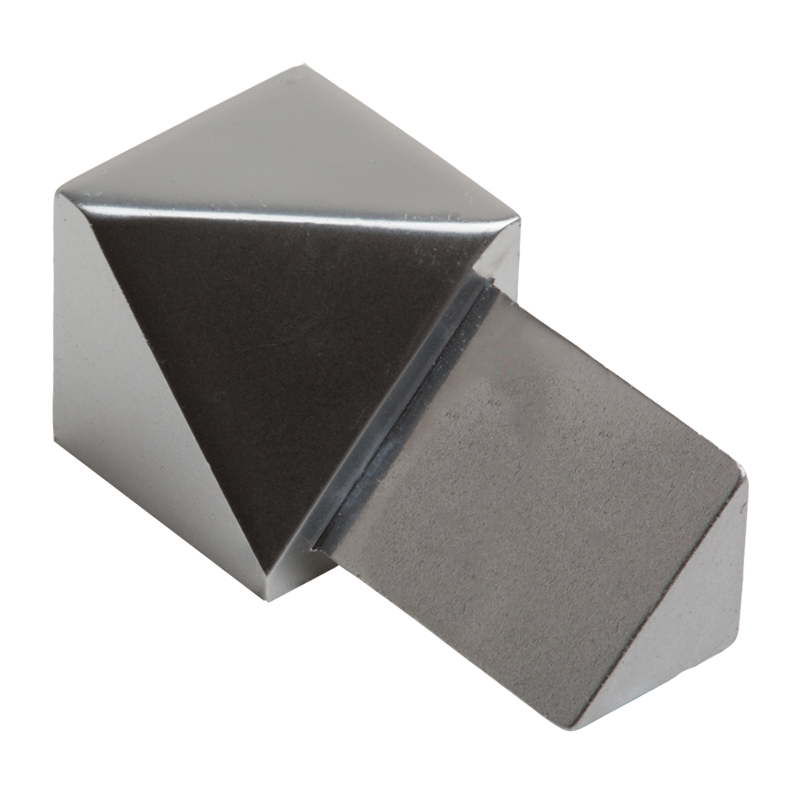 Polished Chrome Triangular Internal Corner (2 Pack) by Genesis