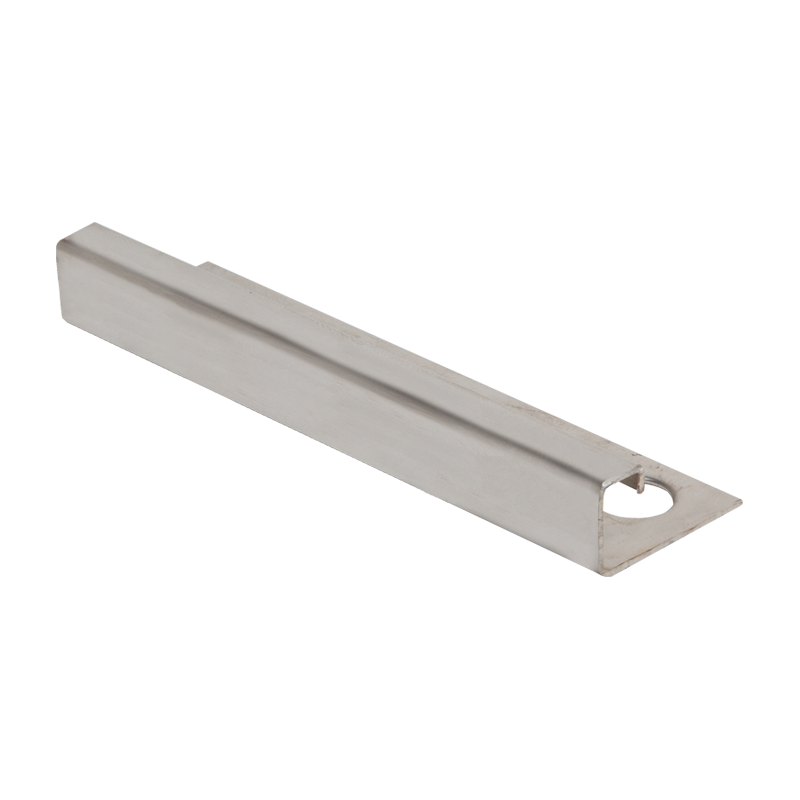 Square Edge Contour Stainless Steel Tile Trim EQS by Genesis