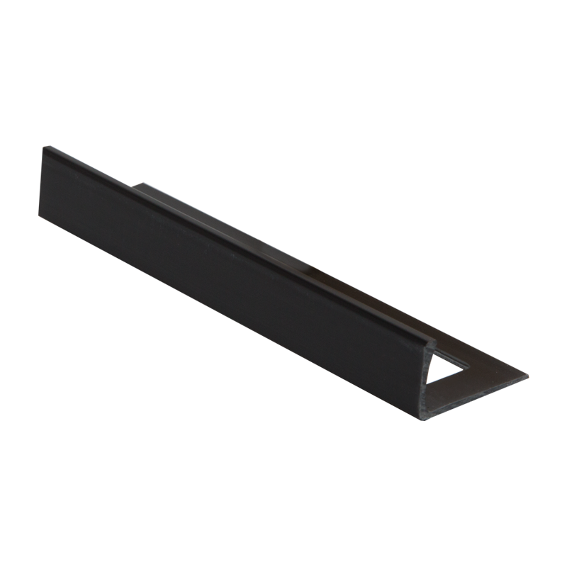 Straight Edge Plastic Tile Trim Black By Dural