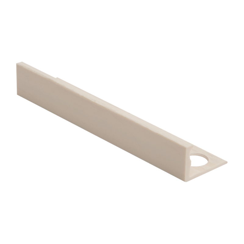 Straight Edge Plastic Tile Trim Soft Cream ESP by Genesis