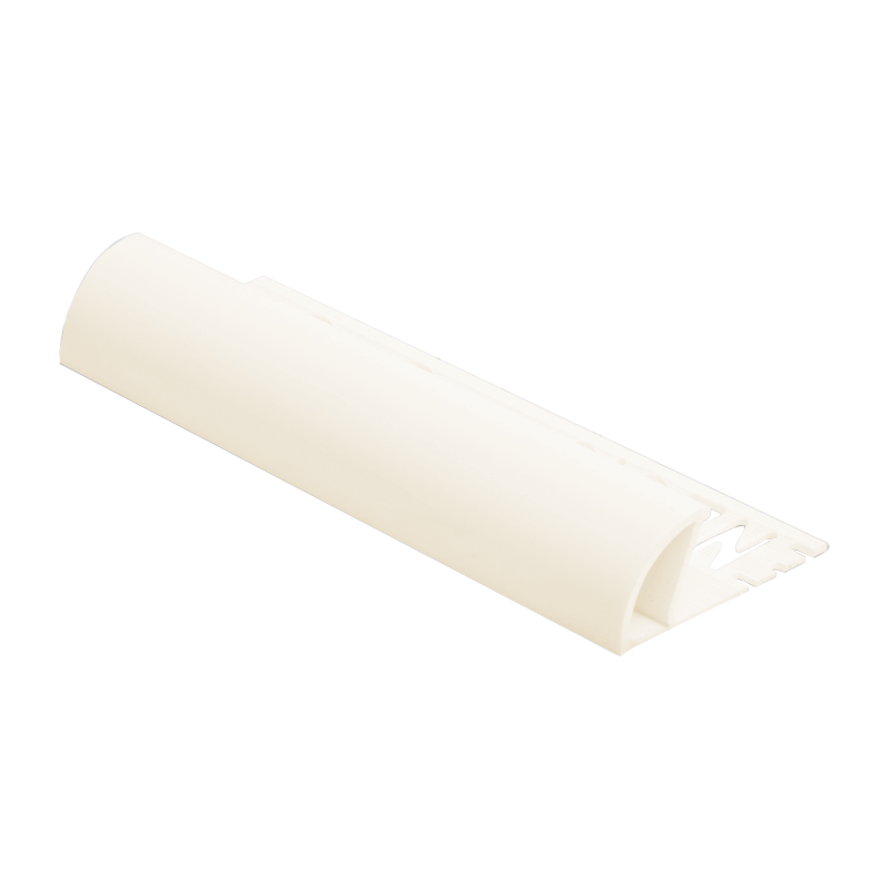 Round Edge Plastic Tile Trim Cream ETR by Genesis