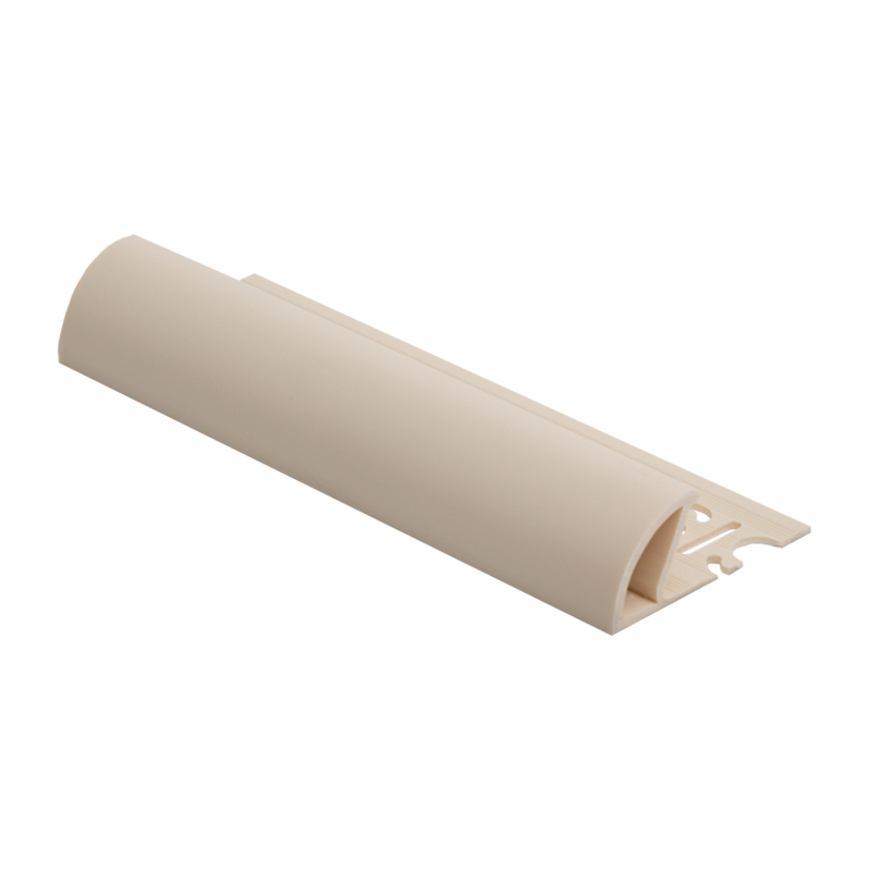 Round Edge Plastic Tile Trim Soft Cream ETR by Genesis