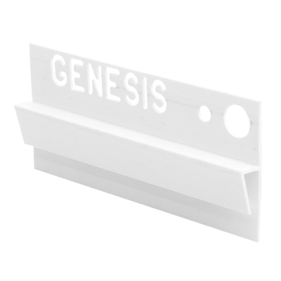 Genesis Plastic Vinyl To Tile Capping White EVC