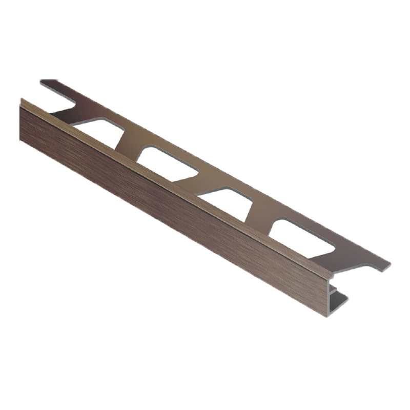 Schluter JOLLY-ABGB Straight Edge Brushed Antique Bronze Anodised Aluminium 2.5m Length