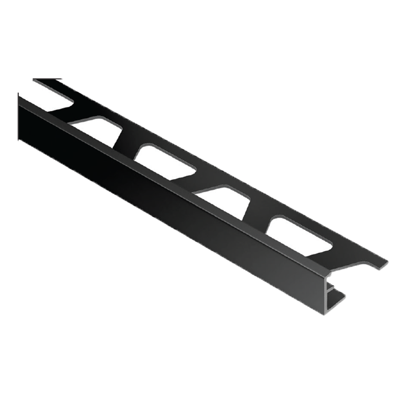 Straight Edge Bright Black Tile Trim Jolly Agsg By