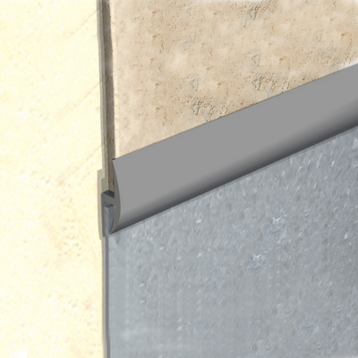 Vinyl to Tile Capping Plastic Strip Grey KCS by Genesis