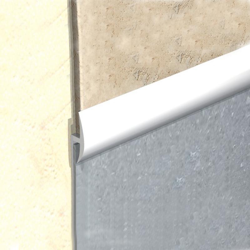 Vinyl To Tile Capping Plastic Strip White Kcs By Genesis