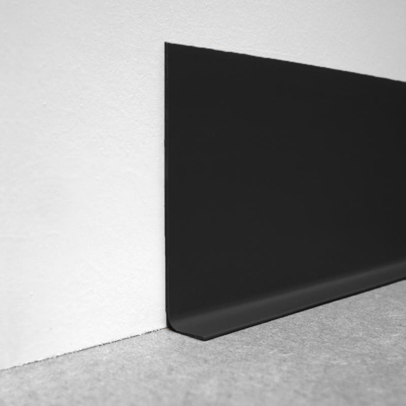 Black P V C  Flexible Sit On Skirting (multiple sized lengths) by Genesis
