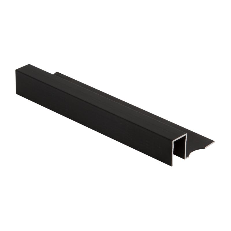 Square Edge Smart Brushed Black Tile Trim TDP By Gensis
