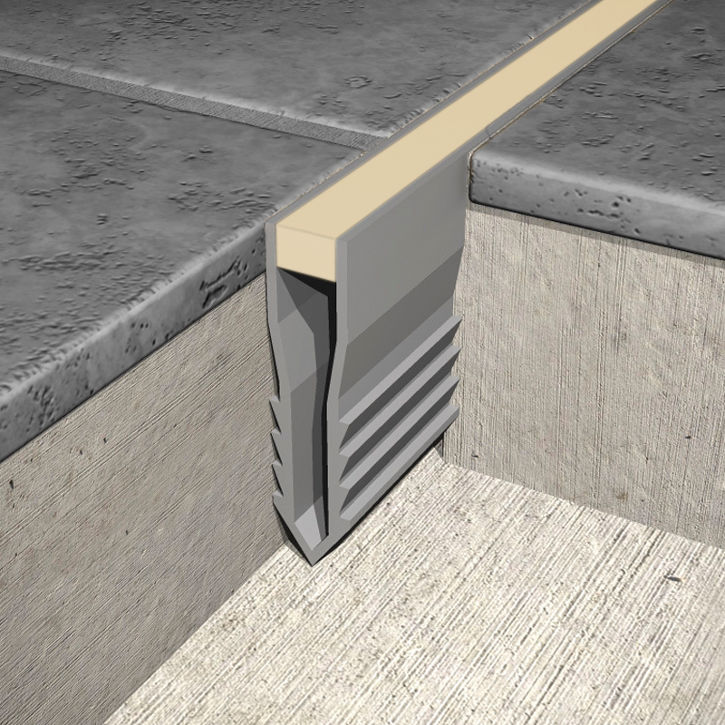 P V C Plastic Screed Expansion Joint MSR (Beige Insert) by Genesis