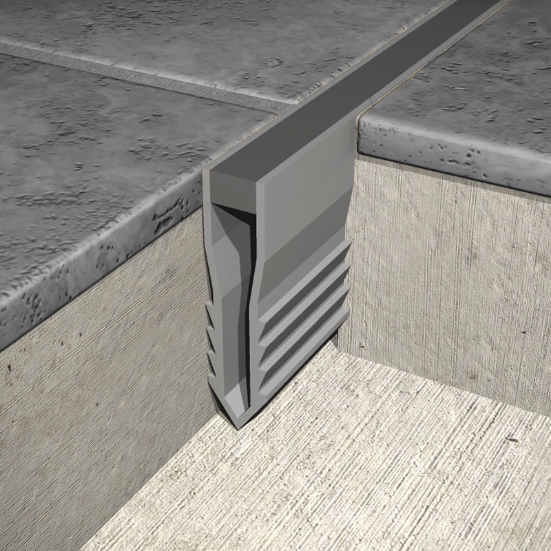 P V C Plastic Screed Expansion Joint Msr Grey Insert By