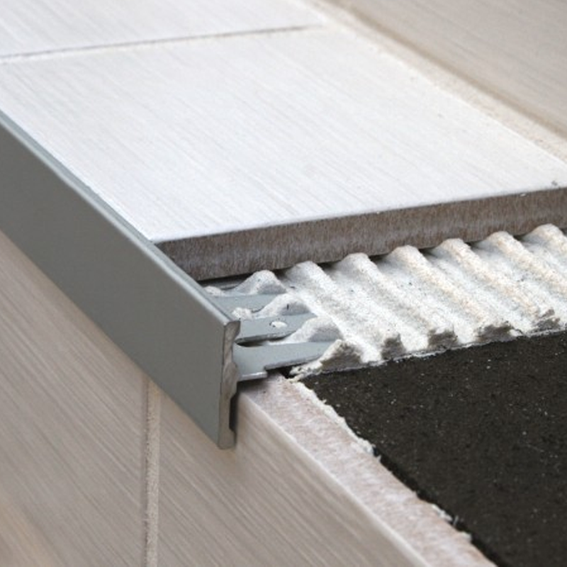 Aluminium Formable Tile In Stair Nosing NFA 2.6m Length (multiple Choice Of  Colour) By Genesis