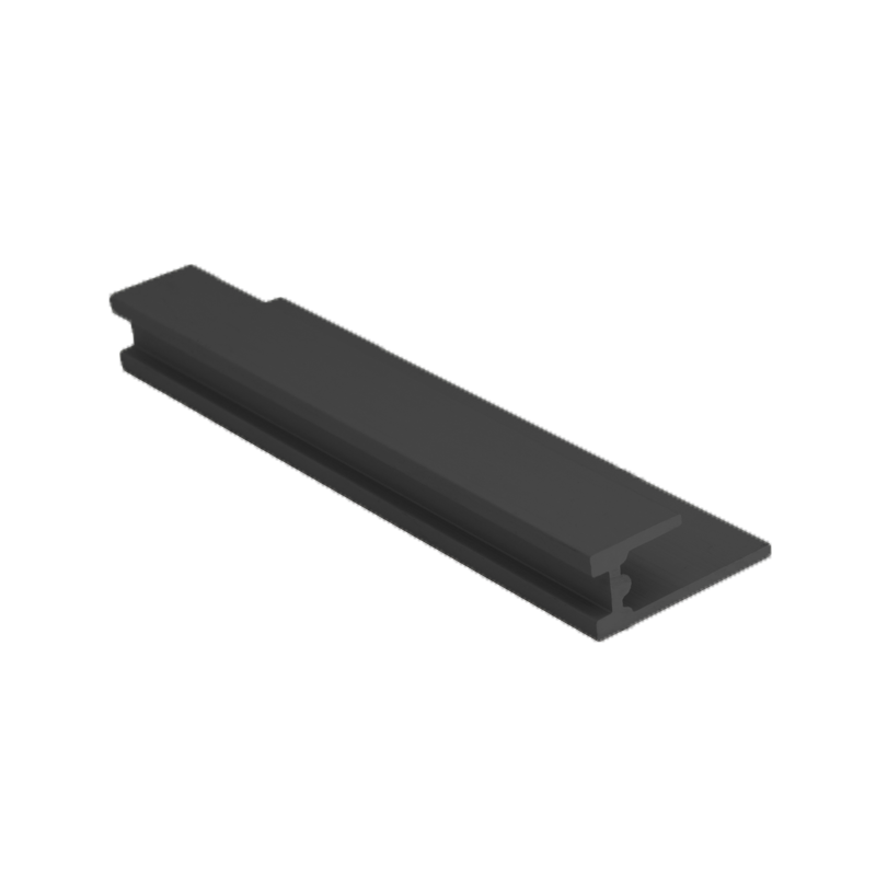 Wet Panel Trim Base Seal Anthracite PBA 2.4m Length By Genesis (choice of sizes)
