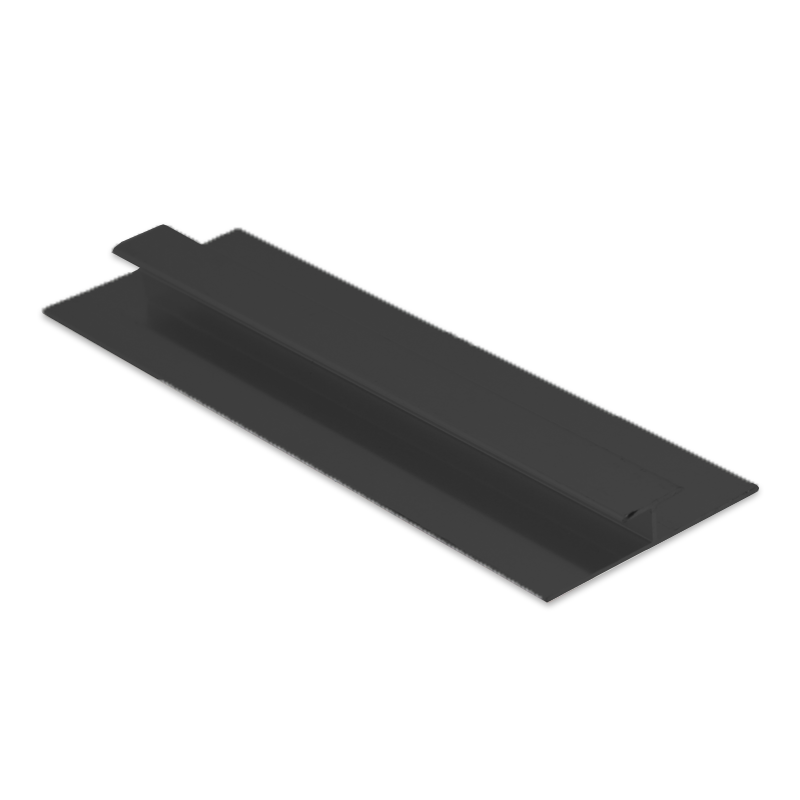 Wet Panel Trim H Joint Anthracite PHA 2.4m Length By Genesis (choice of sizes)