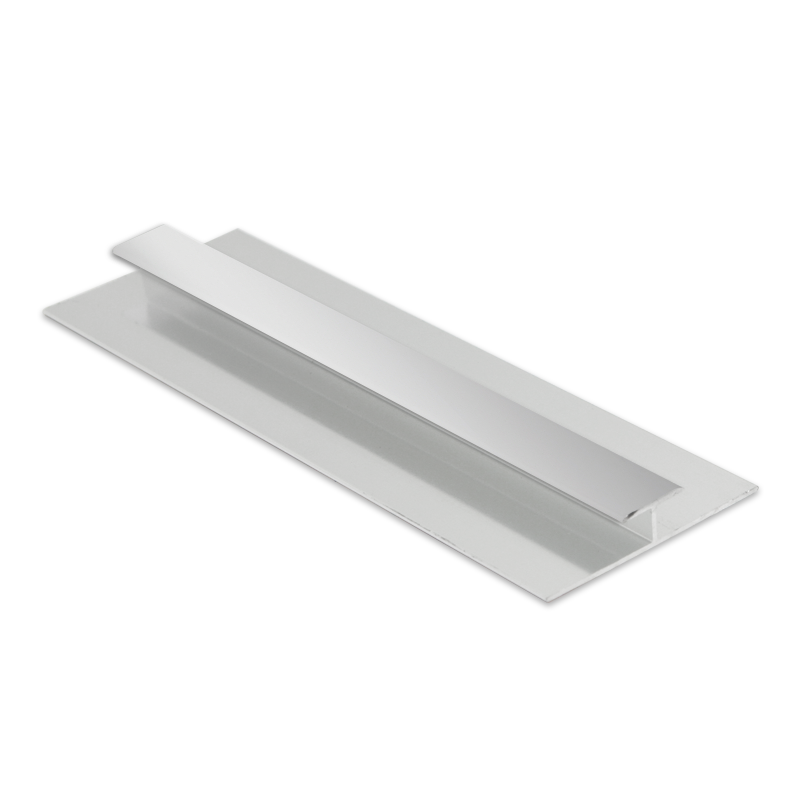 Bright Silver Wet Panel Trim H Joint PHA118.91 2.4m Length By Genesis