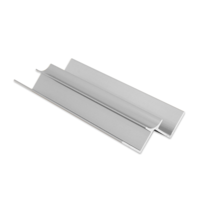 Wet Panel Trim Internal Edge 2 Way Bright Silver PIA 2.4m Length By Genesis (choice of sizes)