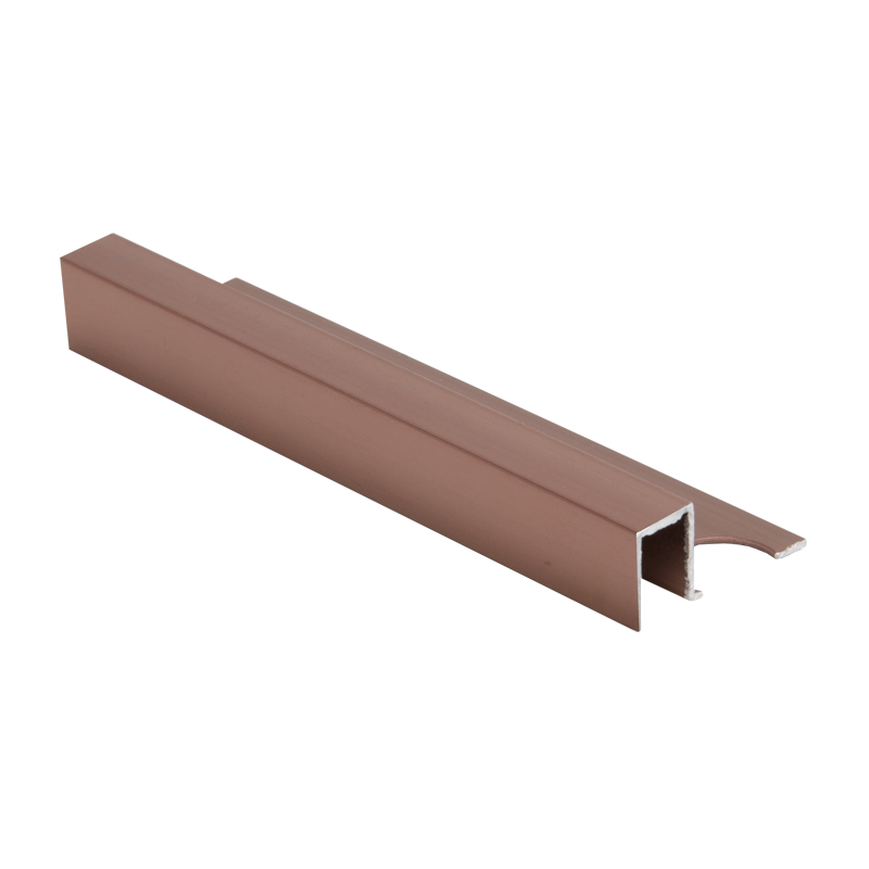 Trade Metal Square Edge Bright Rose Tile Trim 2.5m Length by Pro Tile Trim