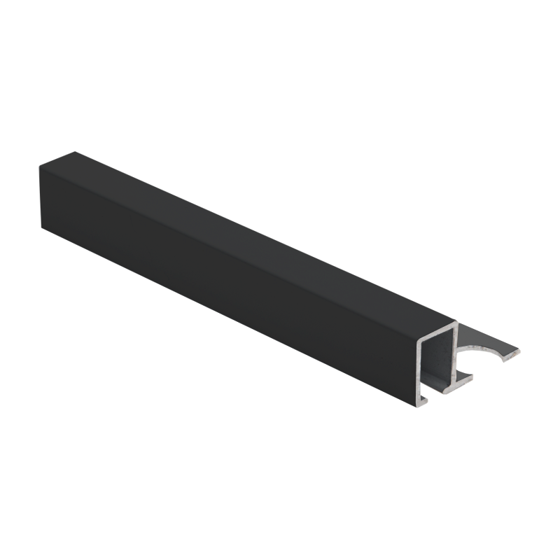 Square Edge Black Powder Coated Aluminium Tile Trim TDP by Genesis