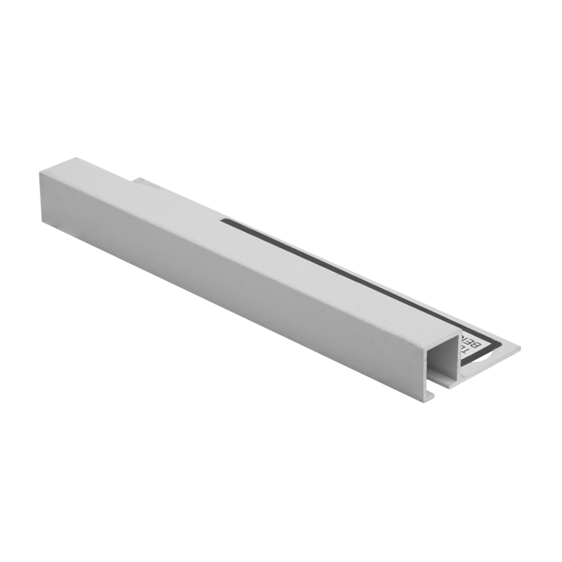 Square Edge Soft Grey Powder Coated Aluminium Tile Trim TDP by Genesis