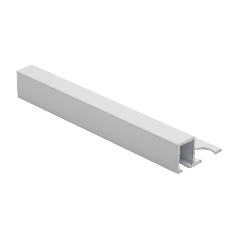Square Edge White Powder Coated Aluminium Tile Trim TDP by Genesis