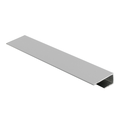 Wet Panel Trim End Cap Matt Silver PUA 2.4m Length By Genesis (choice of sizes)