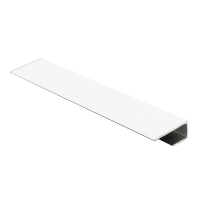 Wet Panel Trim End Cap White Powder Coated PUA 2.4m Length By Genesis (choice of sizes)