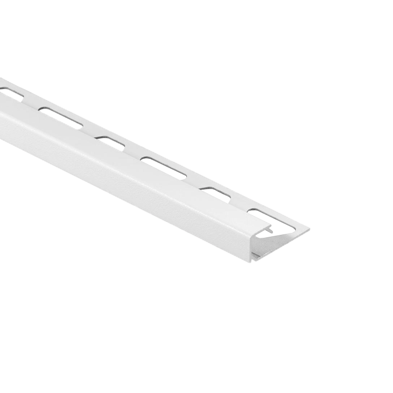 Schluter QUADEC-AC Color Coated Aluminium Square Edge Tile Trim 2.5m Brilliant White
