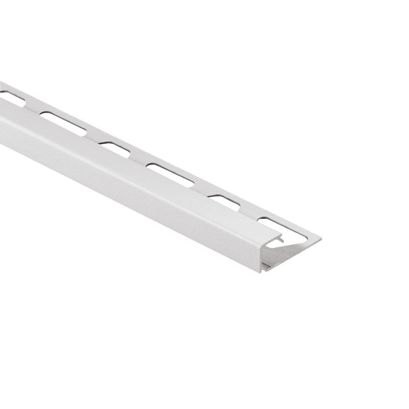 Schluter QUADEC-AC Color Coated Aluminium Square Edge Tile Trim 2.5m Pearl White