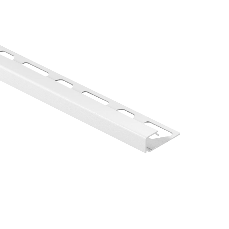 Schluter QUADEC-AC Color Coated Aluminium Square Edge Tile Trim 2.5m Powder Coated White
