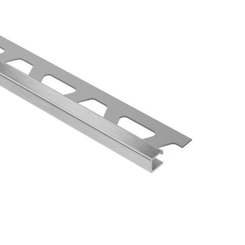 Square Edge QUADEC-EB Contour Edge Brushed Stainless Steel 2.5m Length By Schluter