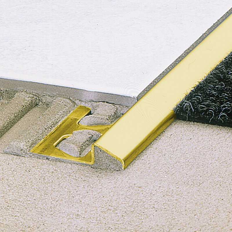RENO-MU Flooring Transition Ramp Brass 1.0m Length By Schluter