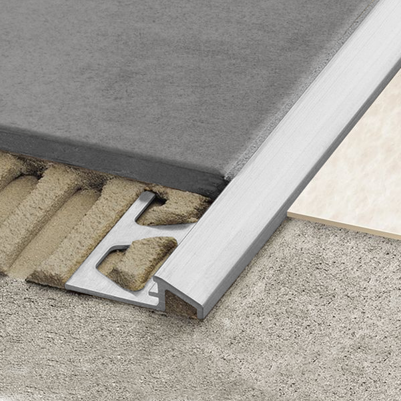 RENO-AU Flooring Transition Ramp Milled Aluminium 2.5m Length By Schluter