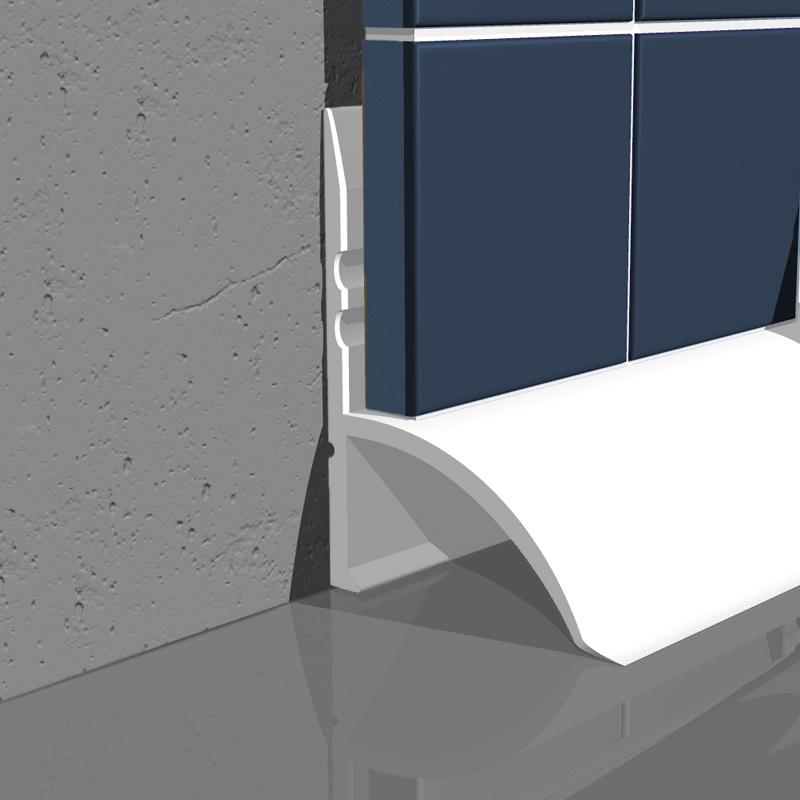 Under / Over Tile Bath Seal White SBS SPS by Genesis