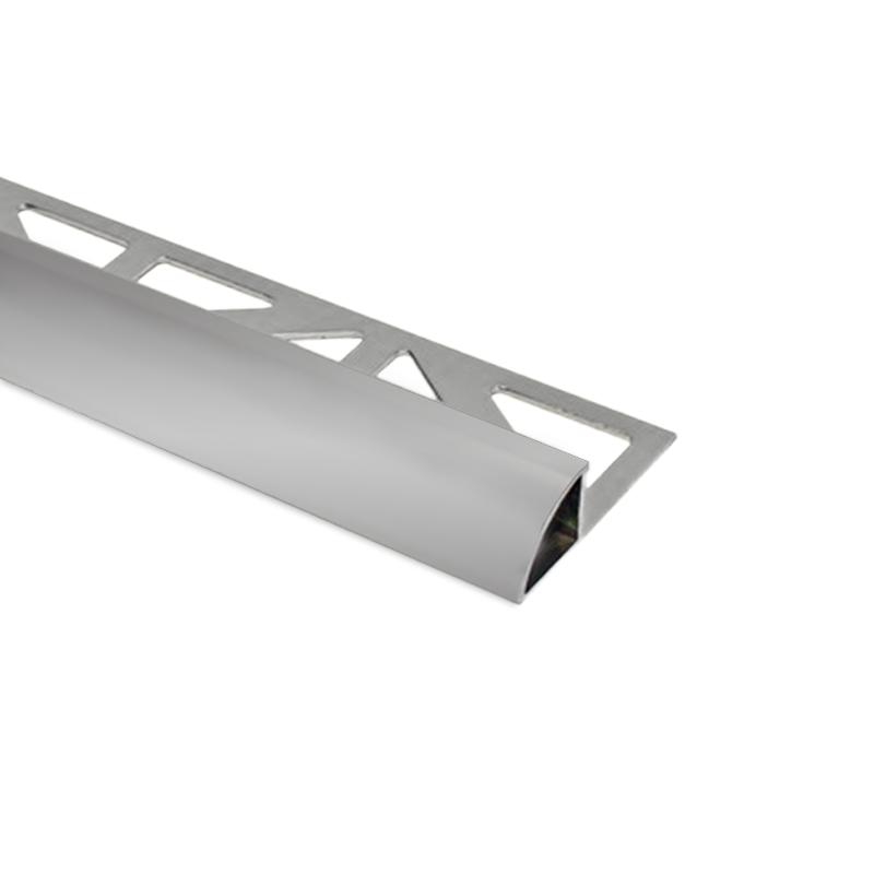 Round Edge Durondell  Matt Silver Aluminium Tile Trim by Dural - 2.5m Length