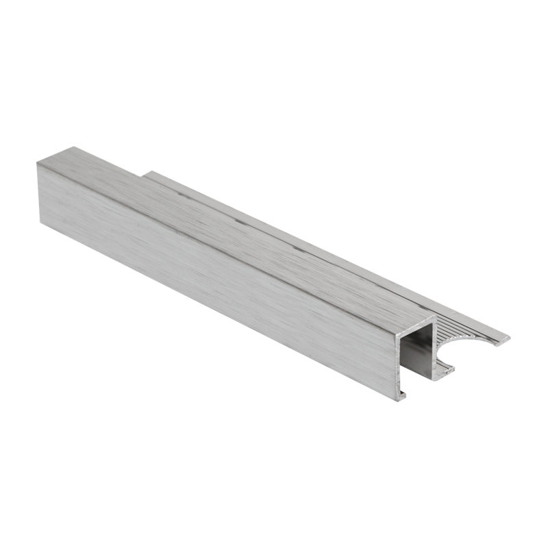 Square Edge Brushed Silver Tile Trim AMQE by PREMTOOL